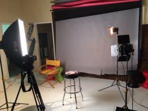 studio setup for shoot
