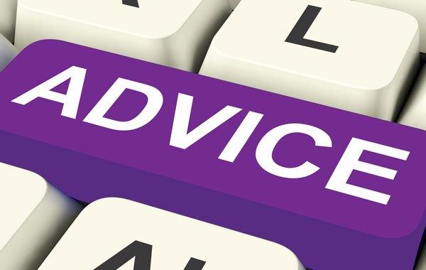 keyboard with advice key