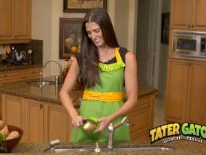 tater gator used at kitchen sink