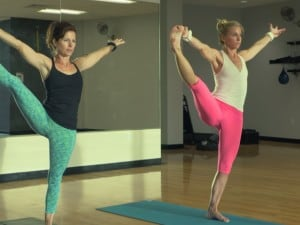 small photo of people doing yoga using tone-y-bands