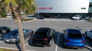 Image of cars on Porsche lot