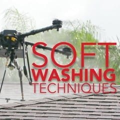 drone flying above roof video