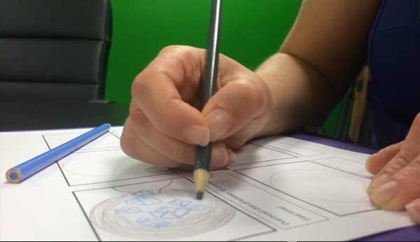 image of storyboard drawing