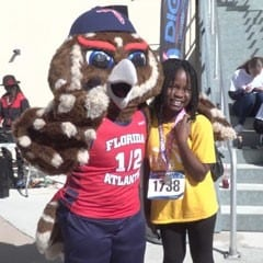 Image of FAU Owl at Spirit Race